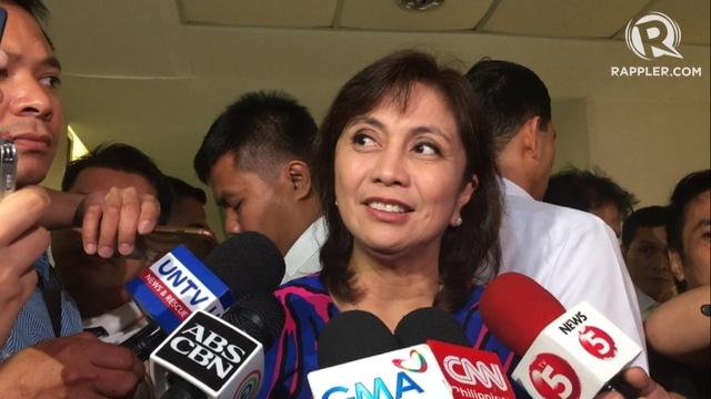 ANTI-DEATH PENALTY. Robredo attends a House hearing on local governance in February as lawmakers discussed reimposing the death penalty. Photo by Mara Cepeda/Rappler