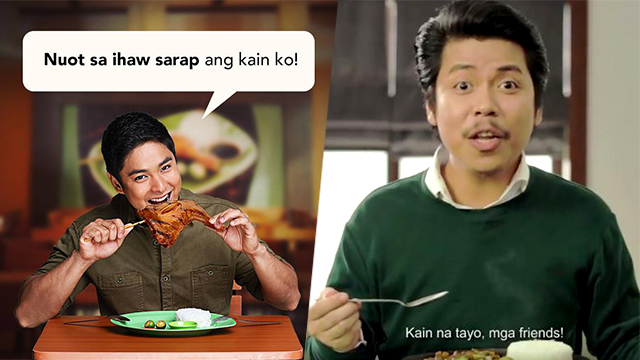 The campaigns for the Mang Inasal u0022Oks na Oksu0022 Chicken Inasal and the Mang Inasal Sizzling Meaty Sarap Pork Sisig featured actor Coco Martin and comedian Empoy Marquez