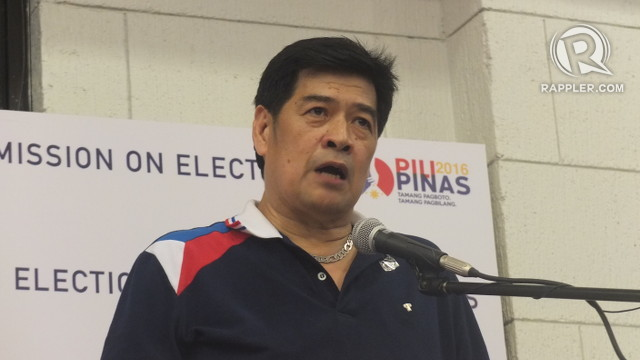 PDP-LABAN'S BET. Volunteers against Crime and Corruption chairman Martin Diu00f1o files his candidacy for president under PDP-Laban on October 16, 2015. Pia Ranada/Rappler