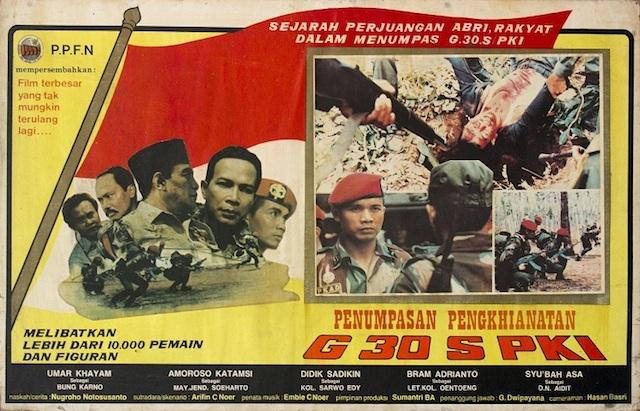 FILM G30S/PKI. Poster film 'Pengkhianatan G30S/PKI' pada 1984. Foto oleh PPFN