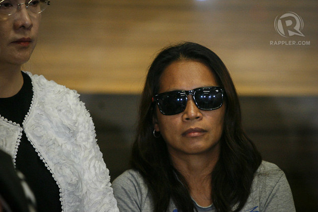 VELOSO'S 'RECRUITER.' This photo shows Maria Cristina Sergio, Mary Jane Veloso's alleged recruiter. File photo by Ben Nabong/Rappler