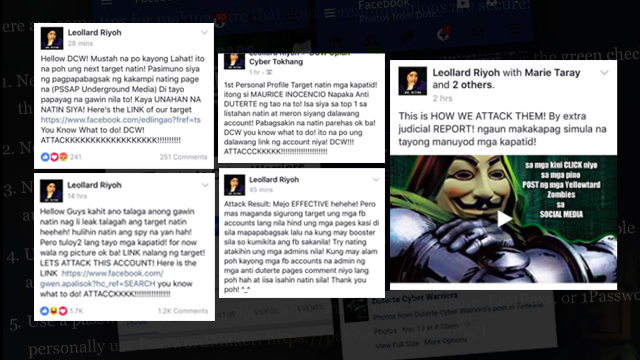 ADMINISTRATOR. Riyoh rallies their cyber army, telling them who to 'attack' and when.