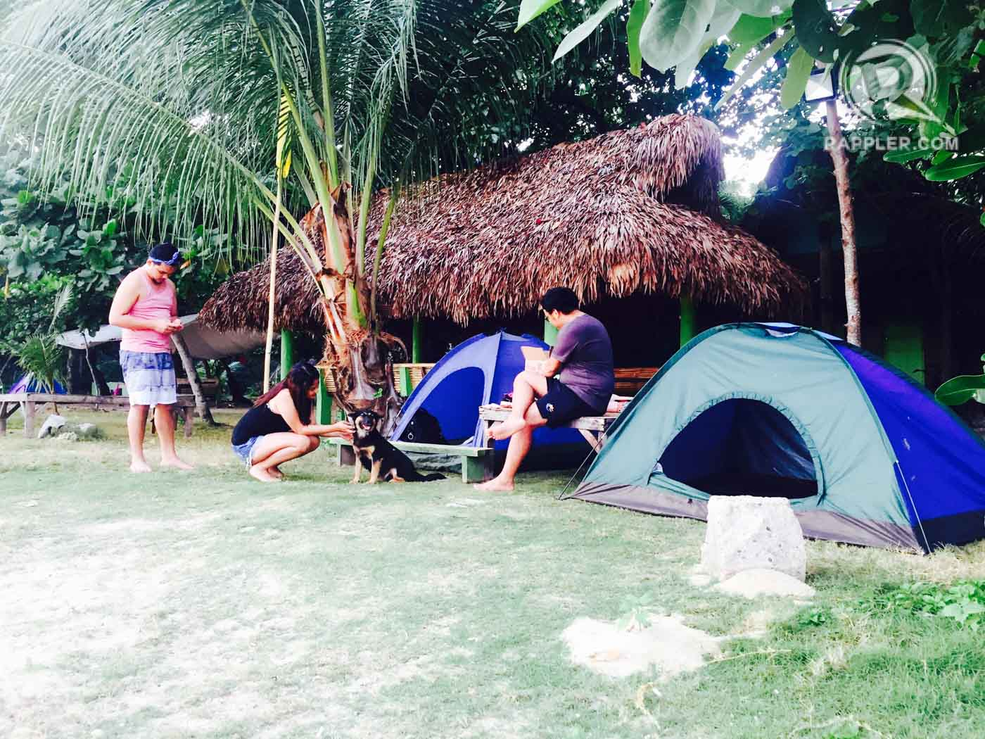 CAMPING. Build your tents just steps away from the stunning beach. Photo by Bonz Magsambol/Rappler