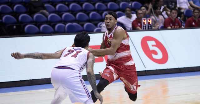 NEW TERRITORY. Calvin Abueva debuts for the Phoenix Fuel Masters following his trade from the Alaska Aces. Photo from PBA Images