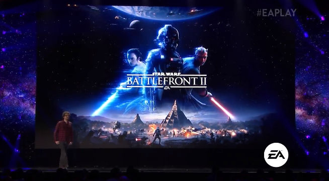 BATTLEFRONT II. Star Wars Battlefront II is bringing the game to Geonosus and the era of the Clone Wars. Screenshot from livestream.