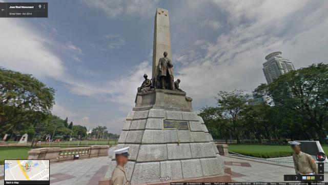 JOSE RIZAL MONUMENT IN STREET VIEW