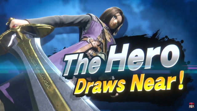 HERO. The Hero joins the Smash Bros. roster. Screenshot from Nintendo Direct livestream