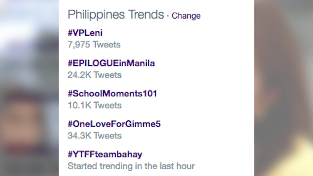#VPLeni. Leni Robredo trends number one in the Philippines after officially winning the vice presidential race.