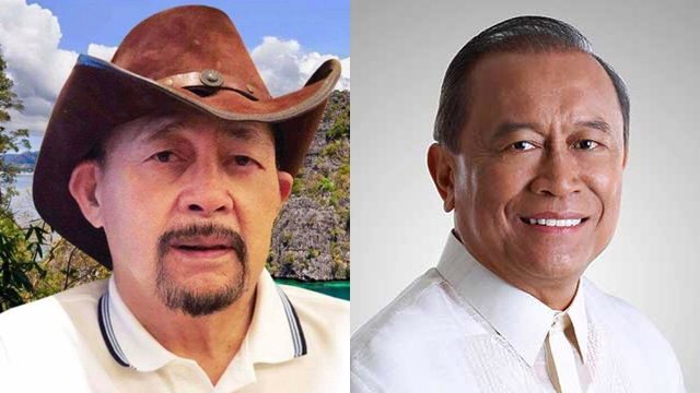 OPPOSING VIEWS. Incumbent Governor Jose Alvarez (R) and former vice governor Arthur Ventura, both gubernatorial bets, differ on the issue of dividing Palawan into 3 provinces. Photos from their official Facebook accounts