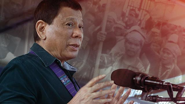 DEVELOPMENT. President Rodrigo Duterte says he is considering opening to investors the ancestral domains in Mindanao.  Malacau00f1ang photo