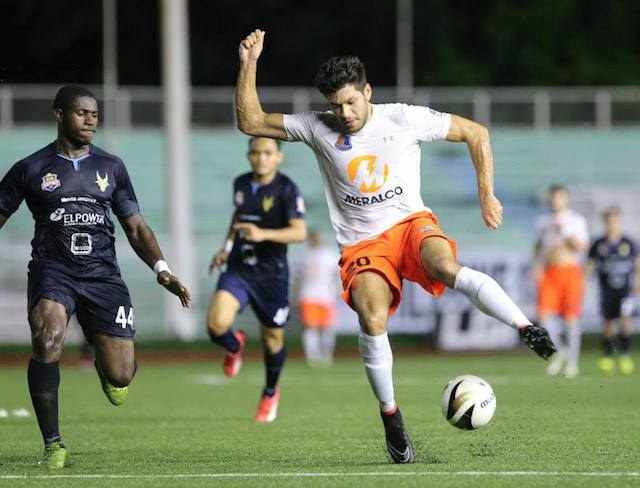 ON THE FIELD. Graham Caygill during his days as a player for the Loyola Meralco Sparks. Photo from Graham Caygill