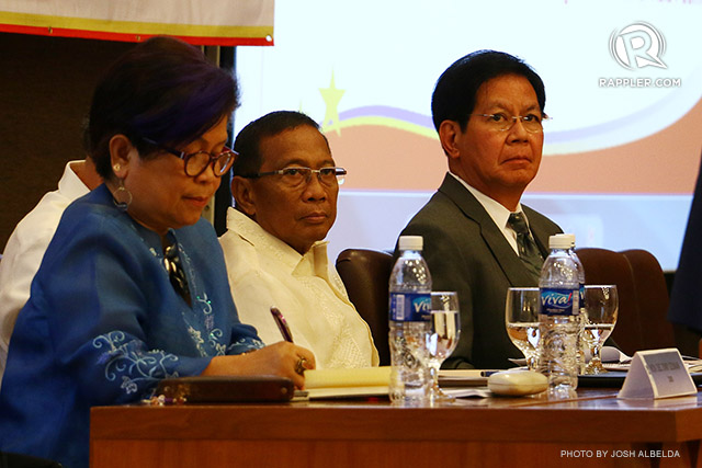 BINAY VP? Former senator Panfilo Lacson (rightmost) is among the options for Binay's running mate. Lacson has yet to announce his final 2016 plans. File photo