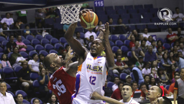 MR. 4TH QUARTER. NLEX import Al Thornton, who routinely picks up his game in the final period, drives to the basket vs KIA import PJ Ramos. Photo by Josh Albelda/Rappler