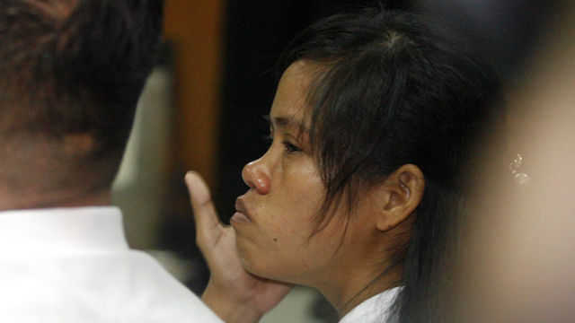 FINAL APPEAL. Mary Jane in court in Yogyakarta during the hearing for her judicial review request in March 2015. Photo by Bimo Satrio/EPA