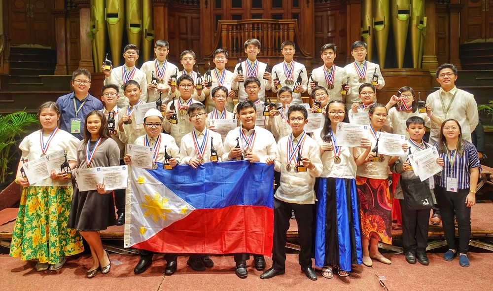 The Philippine team with their medals and trophies at the 2019 South Africa International Mathematics Competition (SAIMC) awarding ceremony held at the Durban City Hall in South Africa. Photo by MTG