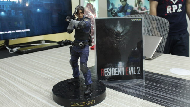MINI-KENNEDY. A statue of Leon Kennedy that will come with the Collector's Edition of the game. Photo by Kyle Chua