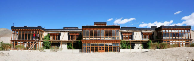 ALTERNATIVE SCHOOL. The SECMOL alternative school is 100% run on solar power. Photo from SECMOL website