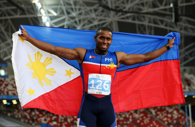 Eric Cray, who was born in Olongapo but lives in Texas, helped push the Philippines past Myanmar for sixth place at the SEA Games. Photo by Singapore SEA Games Organising Committee/Action Images via Reuters