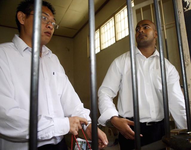 Terpidana mati asal Australia Andrew Chan dan Myuran Sukumaran. Foto oleh EPA
