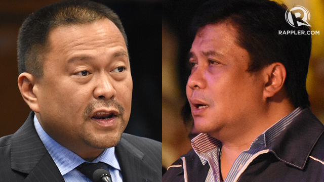 2019. Senate President Aquilino Pimentel III chooses reelectionist Senator Joseph Victor Ejercito over Jinggoy Estrada in the PDP-Laban initial slate. Photos by Angie Silva/Rappler