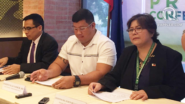 DOCUMENTED. PhilHealth interim president Celestina de la Serna says Rappler's report on her travel expenses is based on documents from the Commission on Audit. Photo by Sofia Tomacruz/Rappler