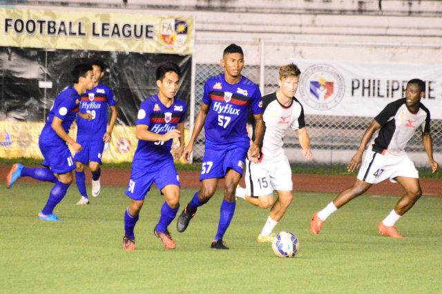Filipino-Nigerian Kennedy Uzoka (#57) scored during the Bokliah Trophy in Brunei last year. Photo by Bob Guerrero