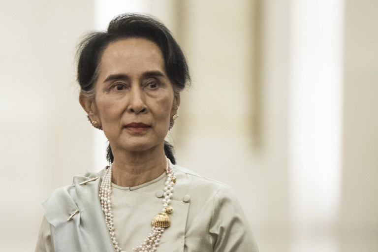 INACTION. Myanmar's State Counselor Aung San Suu Kyi has been criticized globally for not doing enough for the Rohingyas. Fred Dufour/AFP