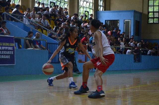 COURT OF THEIR OWN. RTU-A's Rogelyn Inoferio surveys the court. She had a team-high 11 points in a blowout loss to Blackwater Perlas Pilipinas. Photo by Michael Abuel/PCL