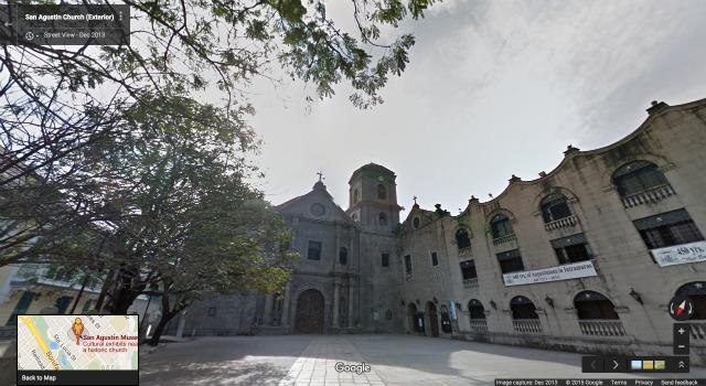 SAN AGUSTIN CHURCH IN STREET VIEW