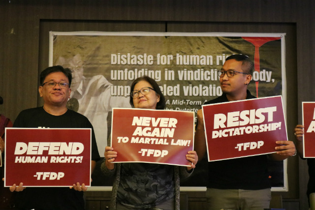 RESIST. Human rights groups urge Filipinos to resist dictatorship under Rodrigo Duterte. Photo from TFDP