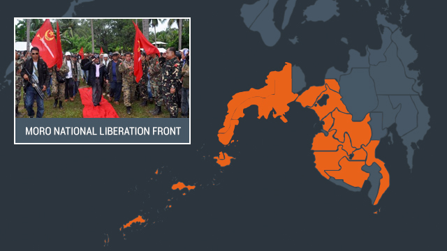 AREAS OF OPERATION. The MNLF operates in Basilan, Davao del Sur, Lanao del Norte, Lanao del Sur, Maguindanao, North Cotabato, Sarangani, South Cotabato, Sultan Kudarat, Sulu, Tawi-Tawi, and in the Zamboanga Peninsula, according to the PCIJ.