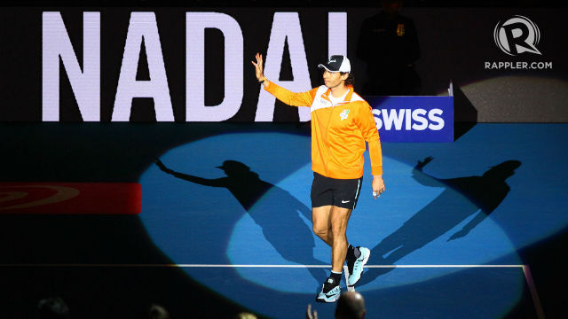 BIG-TIME. Rafael Nadal was welcomed with rousing applause in Manila. Photo by Josh Albelda/Rappler