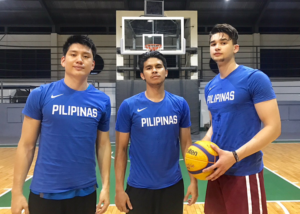 REPRESENT. Jeron Teng, Kiefer Ravena and Kobe Paras will be waving the Philippine banner at the FIBA 3x3 World Cup tourney in France. Photo from Jeron Teng's Twitter account