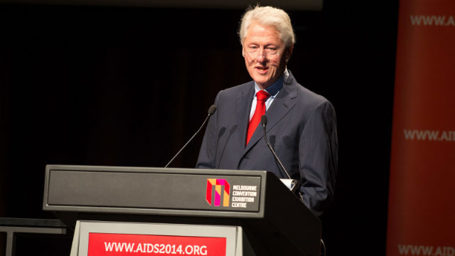 File photo of former US president Bill Clinton from the International AIDS Society.