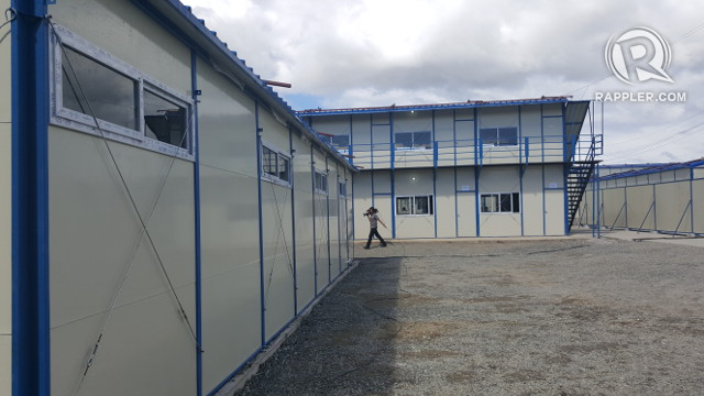 'MEGA' FACILITY. The first phase of the mega facility is a dormitory that can accommodate 2,500 patients. Photo by Pia Ranada/Rappler