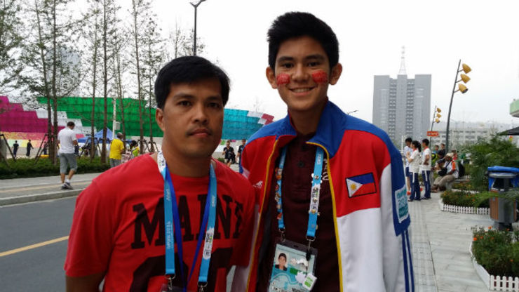 GOLDEN BOY. Archer Gabriel Moreno won the Philippines' first ever Olympic gold medal. Photo from Moreno