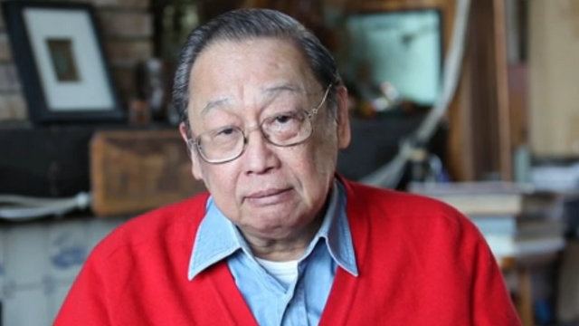 JOMA SISON'S HEALTH. No less than President Duterte brings attention to the health of CPP founder Joma Sison, his former teacher, in his second State of the Nation Address. Screenshot from vimeo.com