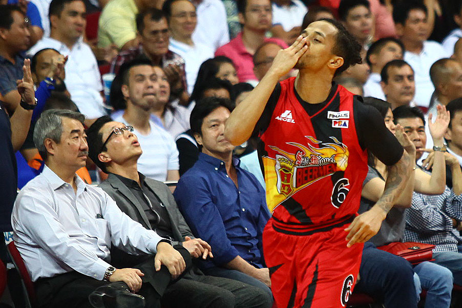 BEER RUNS COLD. Chris Ross and the San Miguel Beermen never quit and were rewarded with a historic series comeback. Photo by Josh Albelda/Rappler