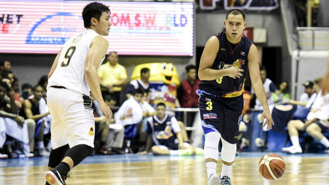 BACK IN PLAY. Paul Lee (R) will be in uniform when his team takes on San Miguel. Photo from PBA Images