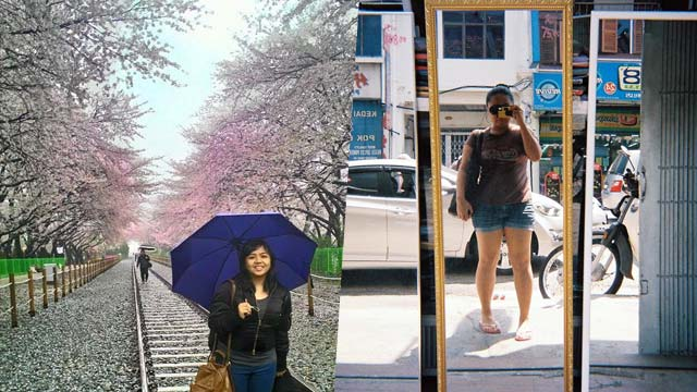 FLYING SOLO. For their first solo trips, Narl (left) flew to South Korea in 2015 while Joy (right) flew to Penang, Malaysia in 2014. All photos courtesy of Narl Marquez and Joy Asto