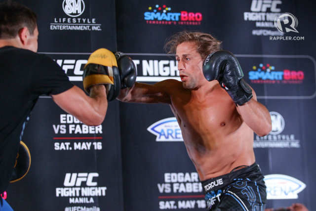 Urijah Faber promises there will be no dull moment in his fight against Frankie Edgar. Photo by Mark Cristino/Rappler