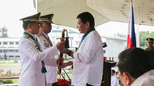 NEW AFP CHIEF. General Eduardo Au00f1o of the Philippine Military Academy (PMA) Matikas Class of 1983.