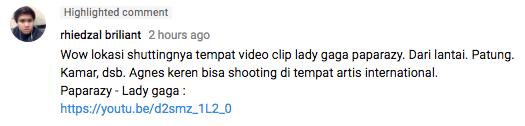 Foto screenshot dari Youtube AGNEZMOofficialVEVO
