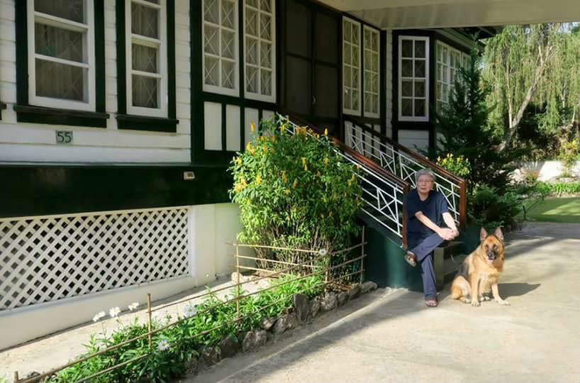 ODE TO BAGUIO. The director outside the Baguio house. Photo from the Citizen Jake Facebook page