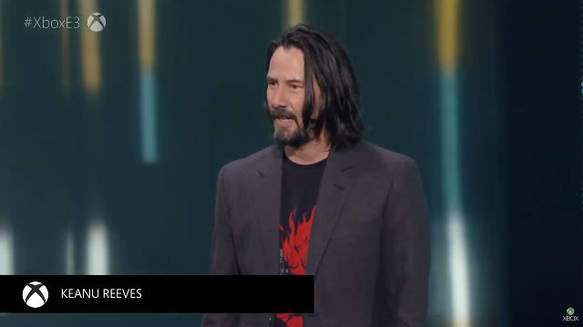 KEANU IN CYBERPUNK 2077. The actor will have a role to play in your adventure. Screenshot from livestream.