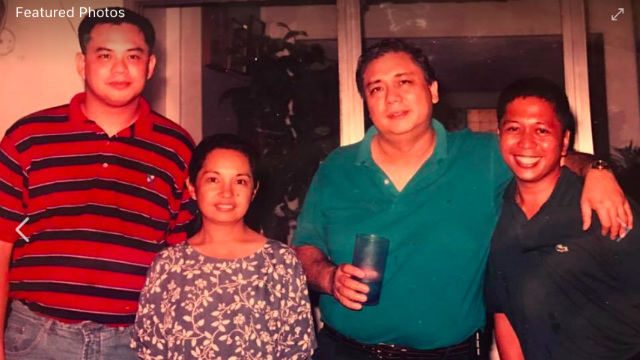 OLDER PHOTO. Ronnie Albao (right most) with former president Gloria Macapagal Arroyo and former first gentleman Mike Arroyo. Photo from Albao's Facebook page