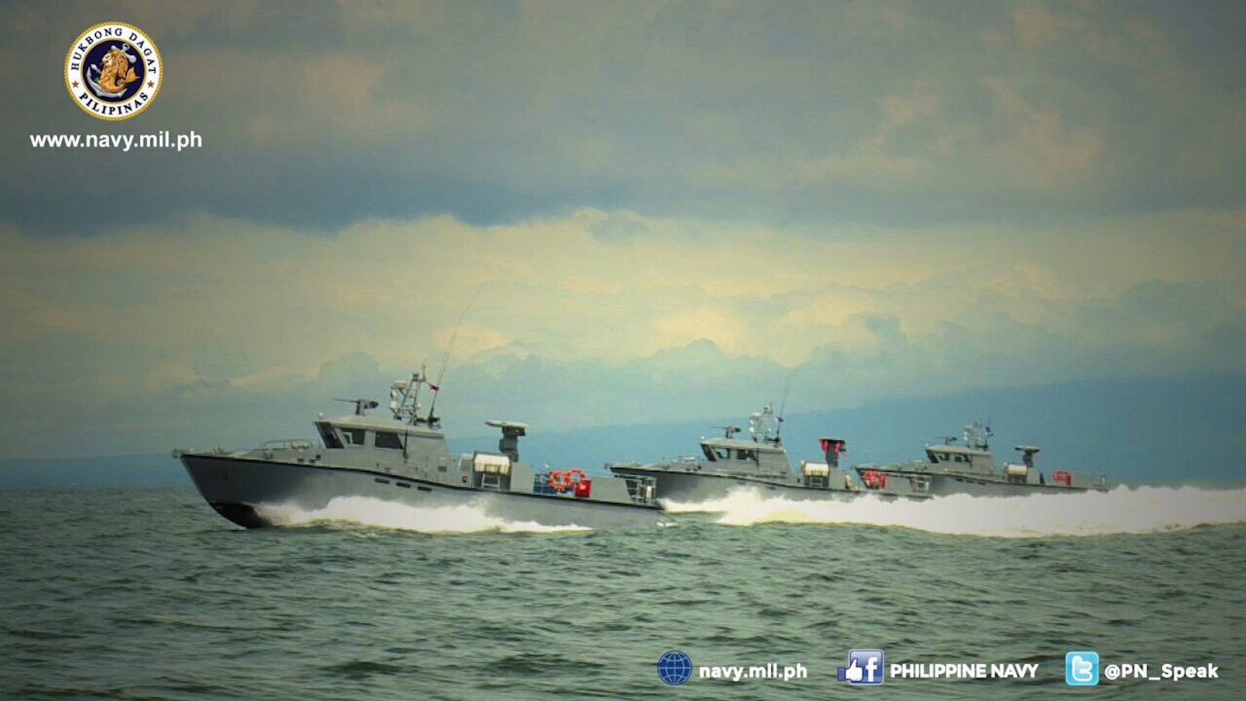 ATTACK CRAFT. The Philippine Navy's multi-purpose attack craft (MPAC) on a test sail. Photo from the Philippine Navy