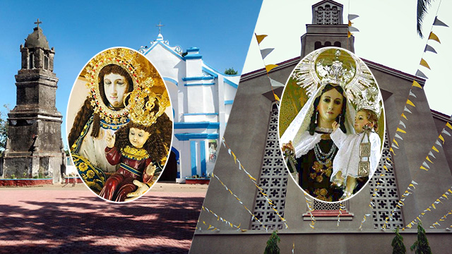 MINOR BASILICAS. The Vatican gives the title minor basilica to the Shrines of Mount Carmel in Quezon City (right) and La Virgen Milagrosa de Badoc in Ilocos Norte. Photos from the shrines Facebook accounts