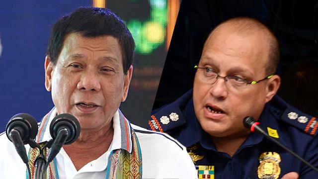 DEFENSE. President Rodrigo Duterte defends Superintendent Marvin Marcos from critics.