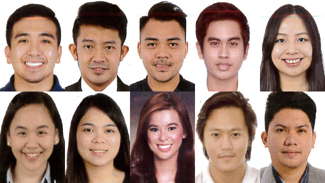 BAR TOPNOTCHERS. The top 10 passers of the 2018 Bar Exams. Photos from SC PIO